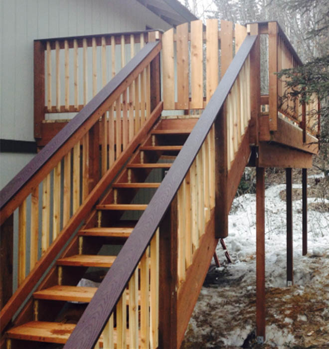 Front Porch Deck Accessible Homes Alaska