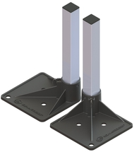 "Support Tube Square - 10"" - 64"""