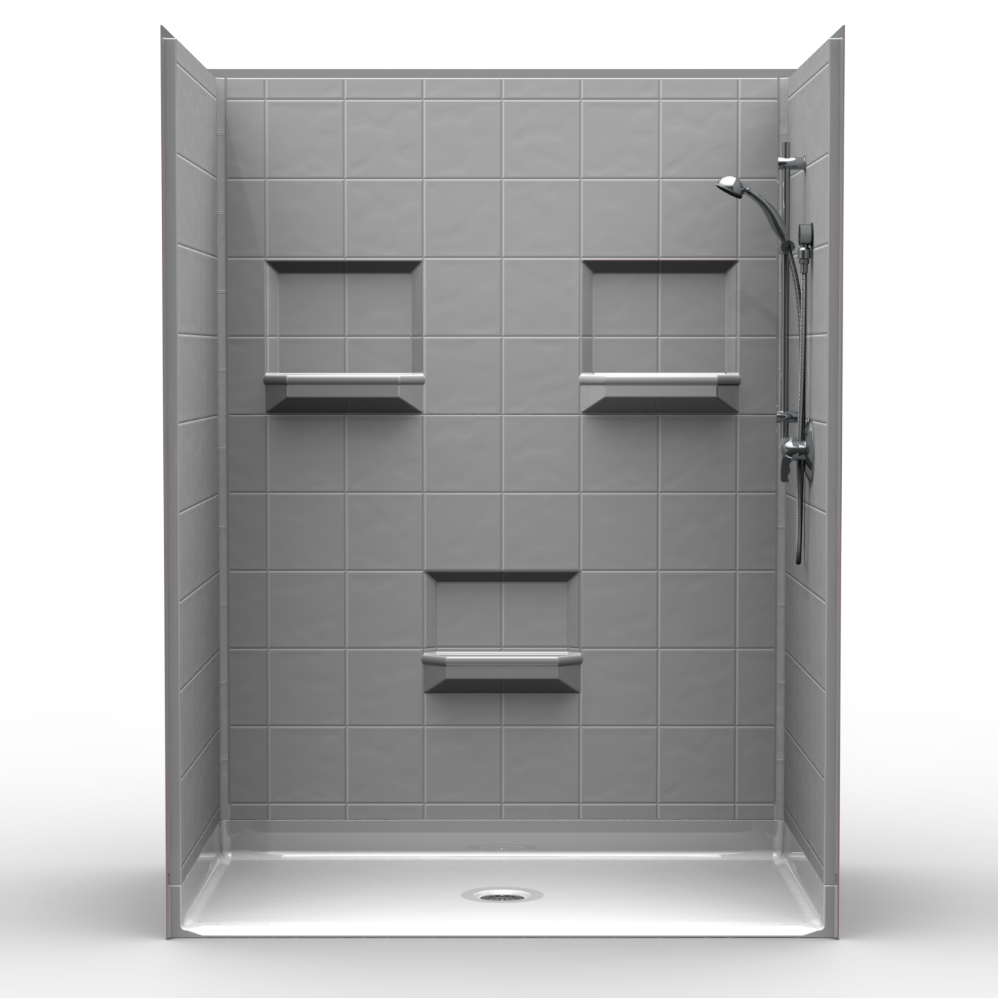 Need It Now 5-Piece Tile Barrier Free Shower