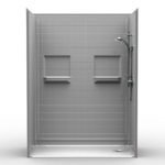 Multi Piece Barrier Free Shower