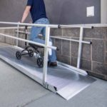 GATEWAY Solid Surface Portable Ramp - Handrails