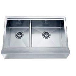 Apron Front Square Sink/Straight, Zero Radius Corners