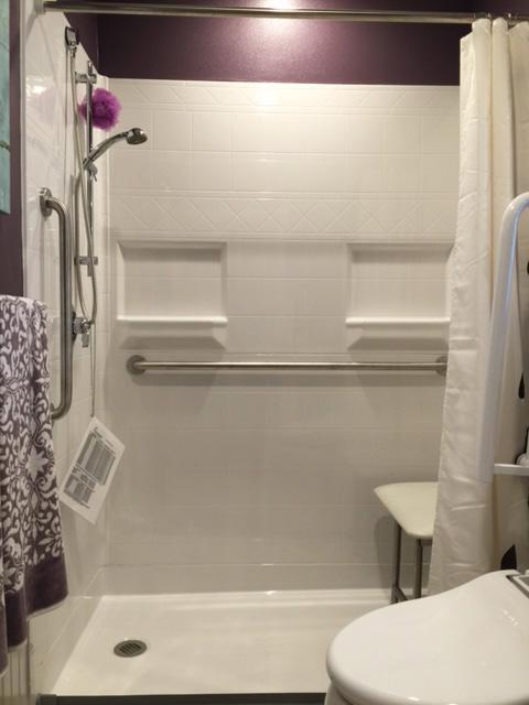 Need It Now 5-Piece Diamond Tile Barrier Free Shower