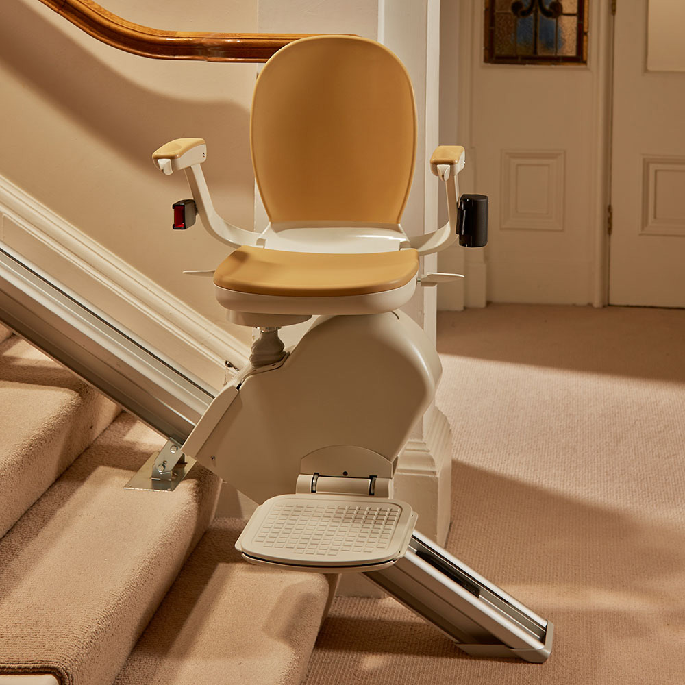 Indoor Hinged-Rail Stair Lift ⋆ Accessible Homes, Inc.
