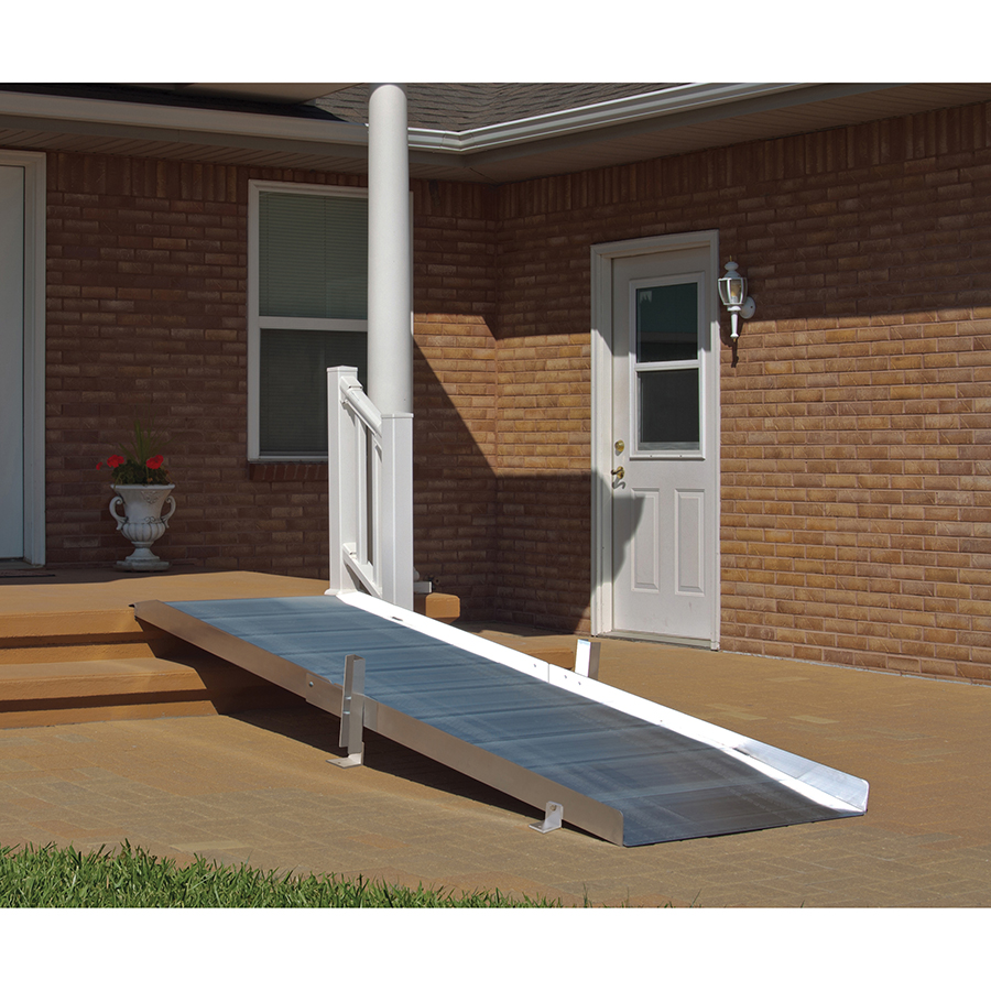 Non-Folding Ramp Grooved Aluminum 3' to 10'